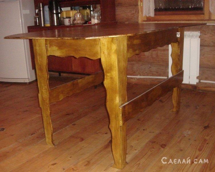 Как сделать из самим кухонный стол