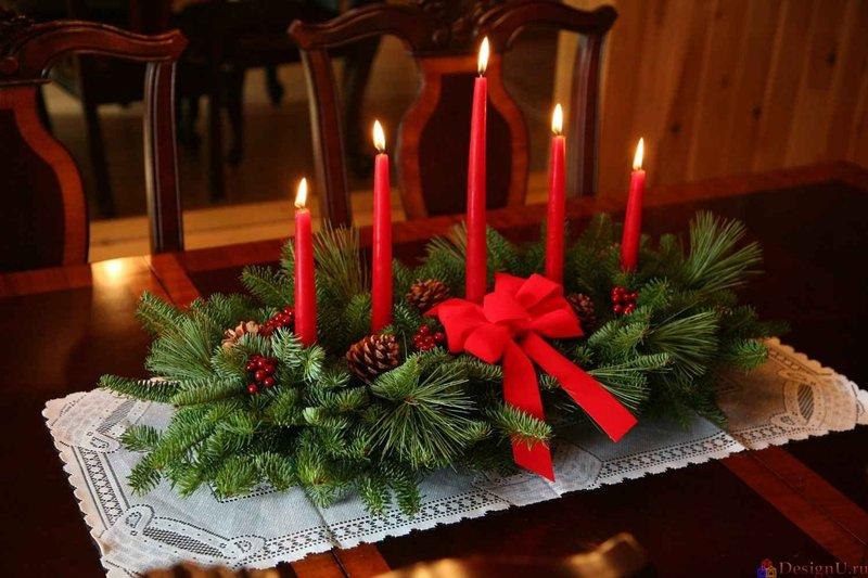 Поделки на новогодний стол своими руками