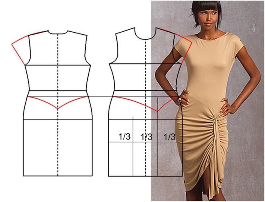 Сшить юбку из трикотажного платья 24