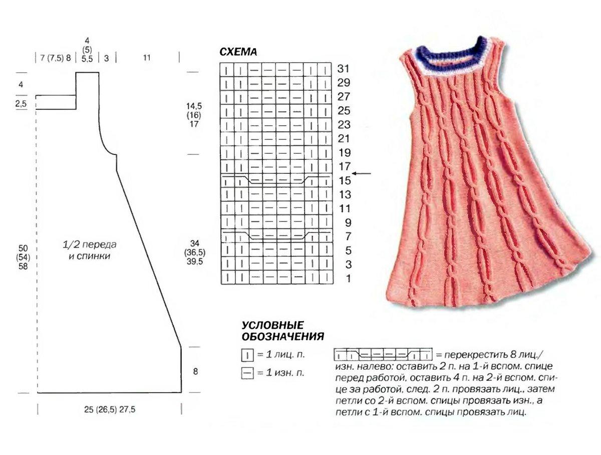 Сарафан для девочки спицами 37 моделей с. - Вязание спицами 36