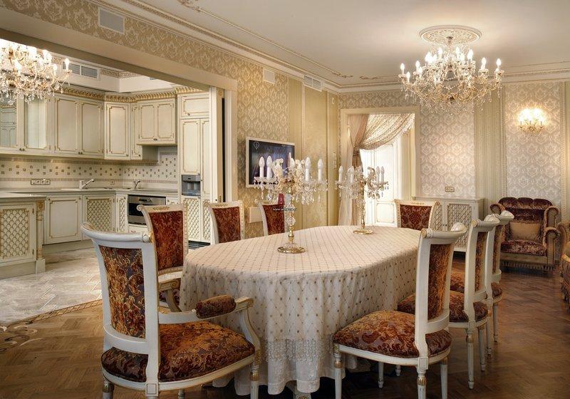 Классическая кухня столовая дизайн