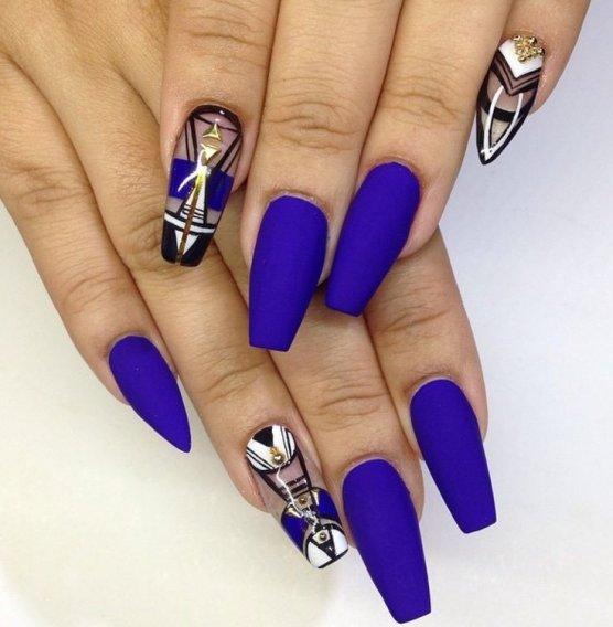 Красивый маникюр на длинные ногти