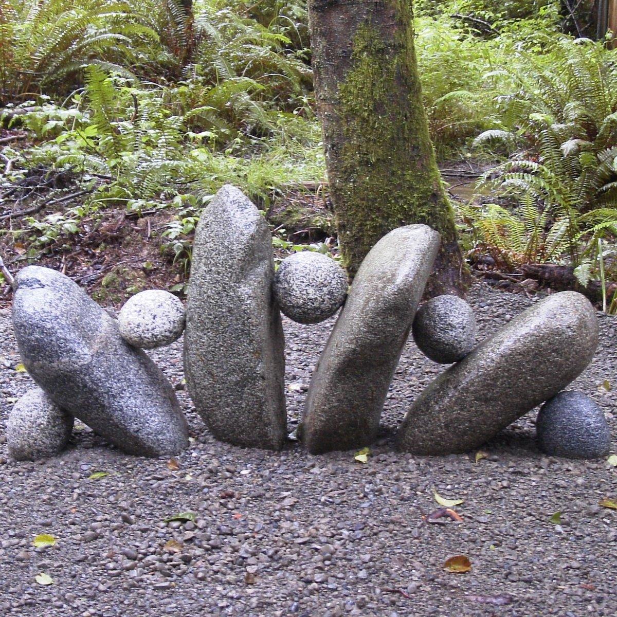 Поделки из камней своими руками фото для дачи и сада 66