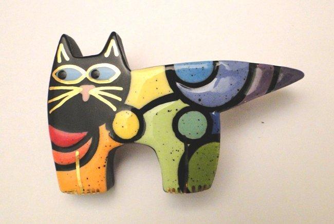 Поделка кошка из разных материалов 9