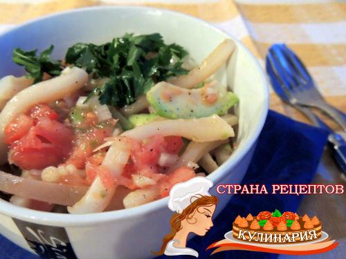 Рецепт из кальмаров рецепт очень вкусный с яйцом и огурцом