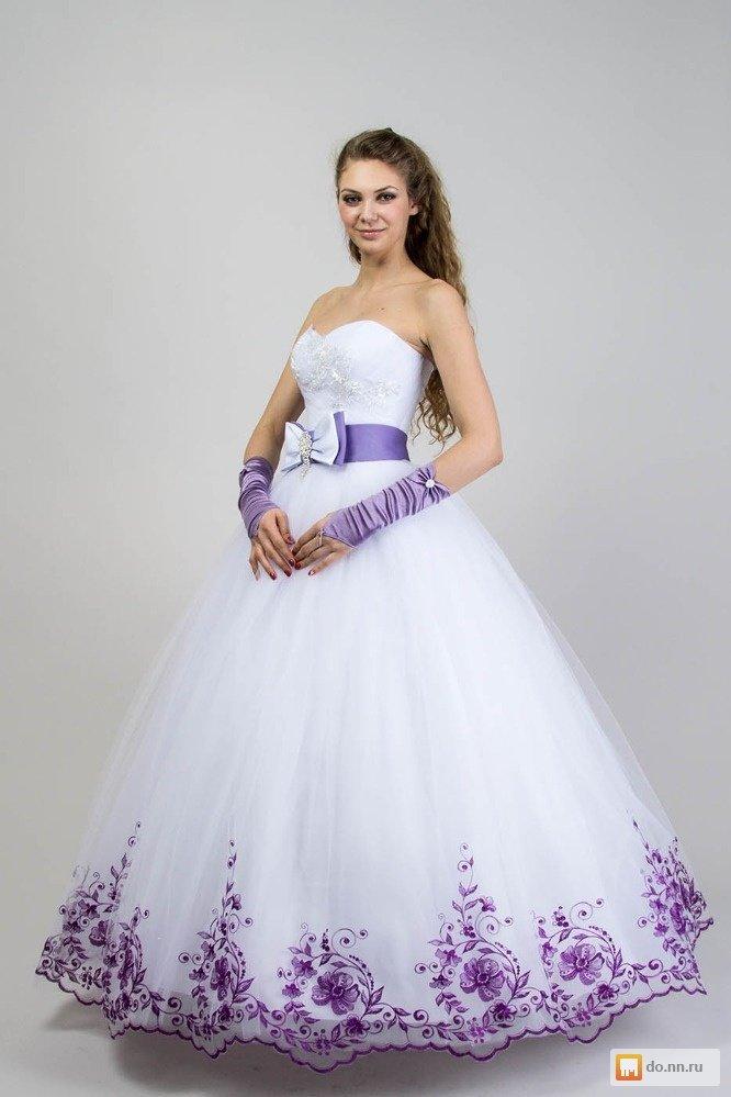 Свадебные платья в сиреневом цвете