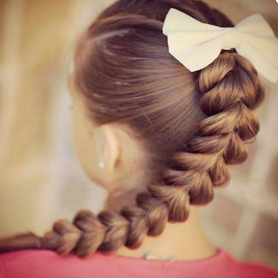Косички для девочек - простые детские прически прически 69