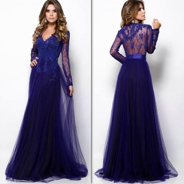 Длинные платья в пол с рукавами вечерние