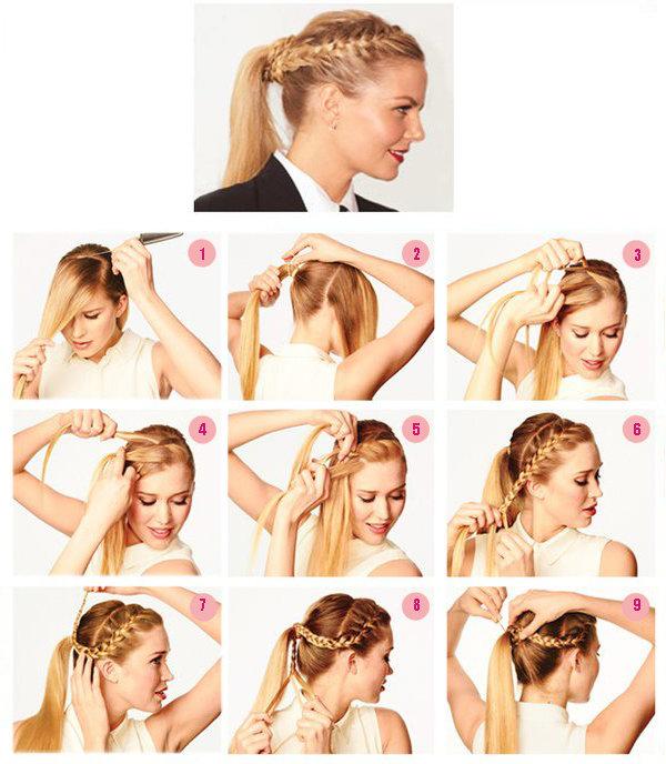 Деловые прически на длинные волосы своими руками фото пошагово 10