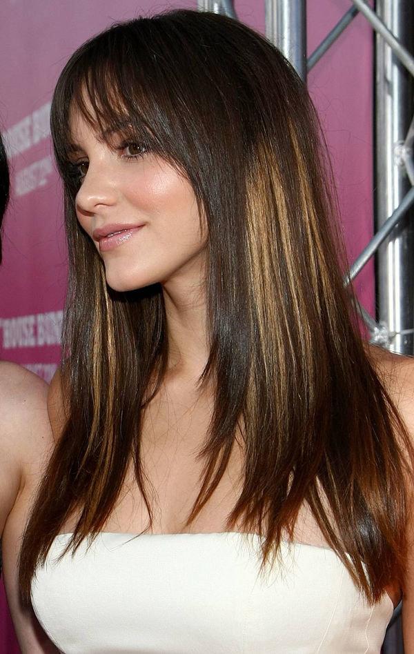 Стрижки каскад для длинных волос с челкой