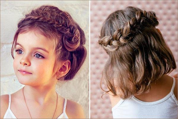 Прически на средние волосы фото для ребенка