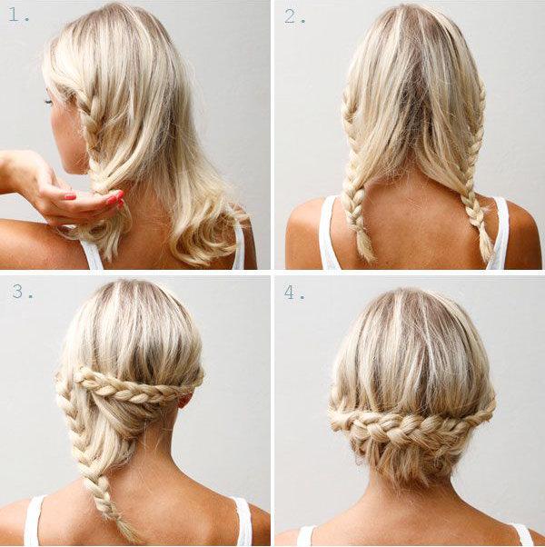 Как сделать прическу на волосы длиной до плеч 883