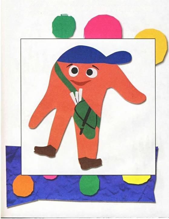 Цветной картон поделки 2-3 года