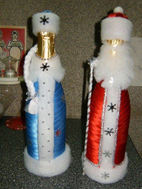 Декорирование шампанского на новый год своими руками
