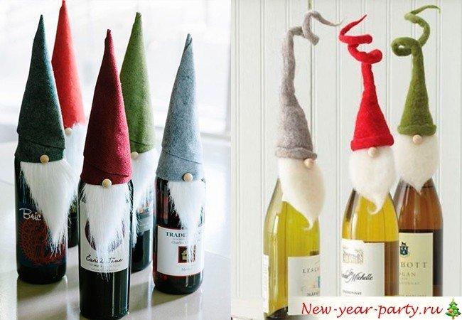 Бутылка шампанского на новый год 2017