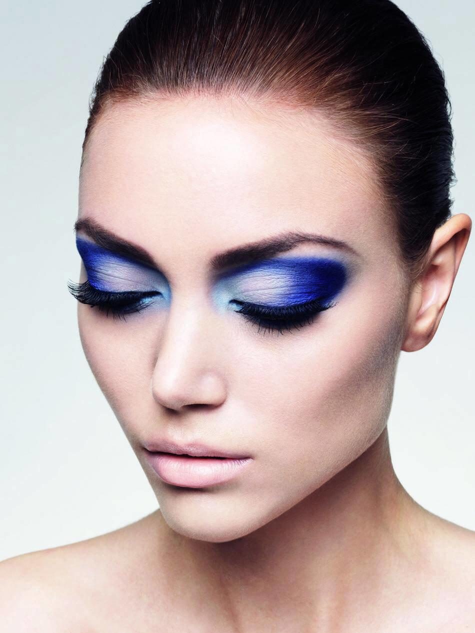Голубое лицо макияж фото