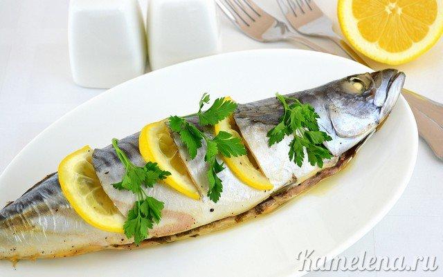 Рецепт запеченной скумбрии с лимоном в духовке