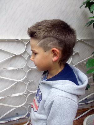 Фото стрижек мальчиков с полосками