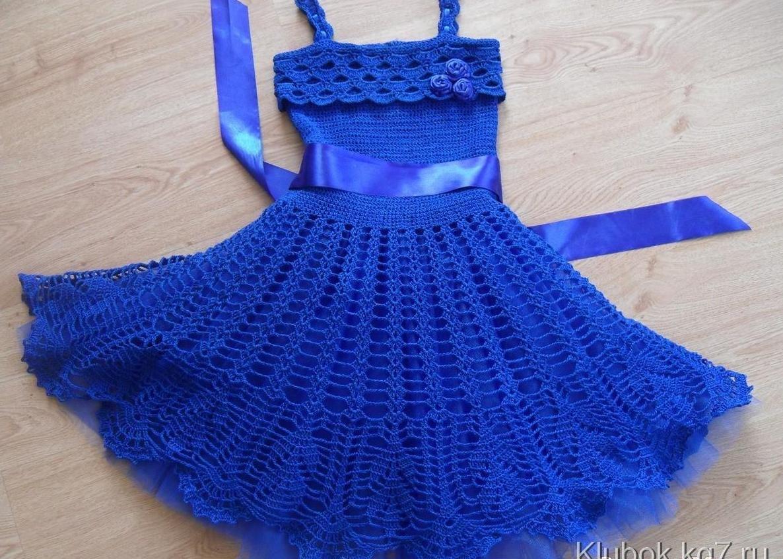 Поиск на Постиле: Платье спицами для девочки 21