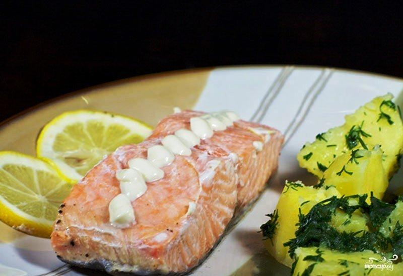 Рецепт красной рыбы в духовке в фольге с картошкой