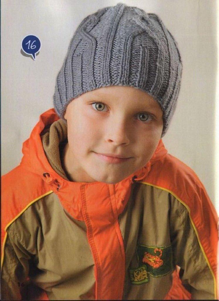 Вязание спицами шапка для мальчика 4 лет 59