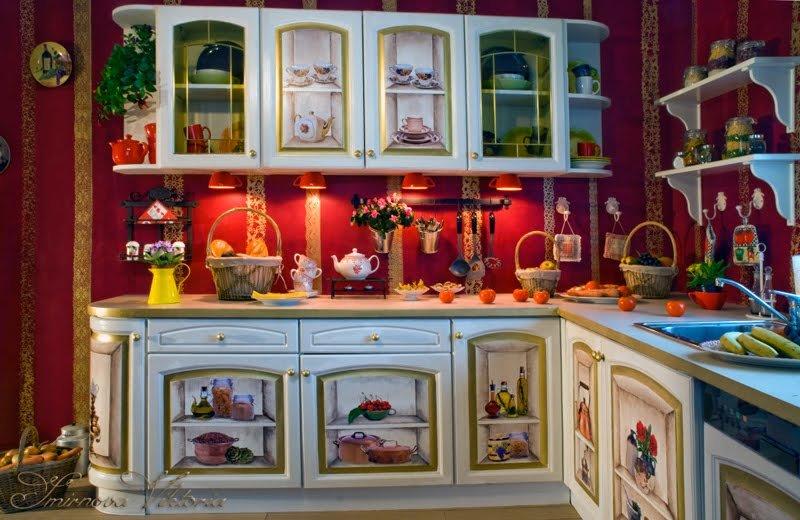 Декупаж кухонной стенки своими руками 32