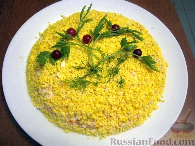 Салат мимоза с крабовыми палочками рецепт с