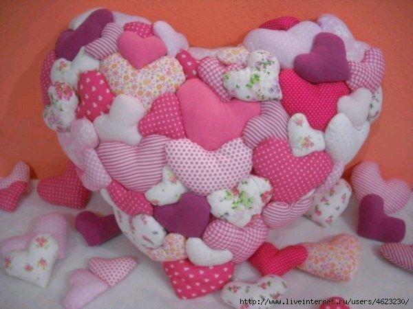 Подушка сердечки своими руками 10