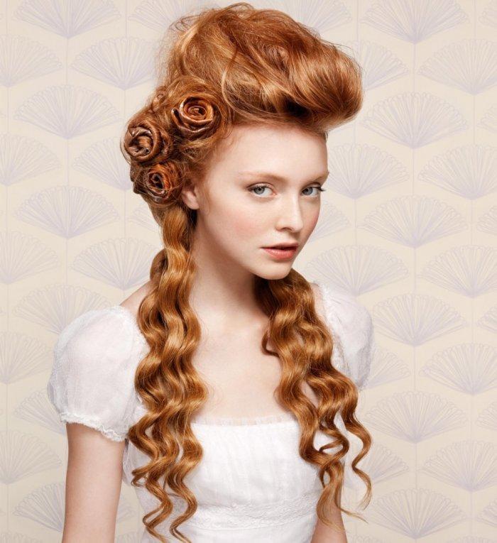 прически на длинные волосы готич