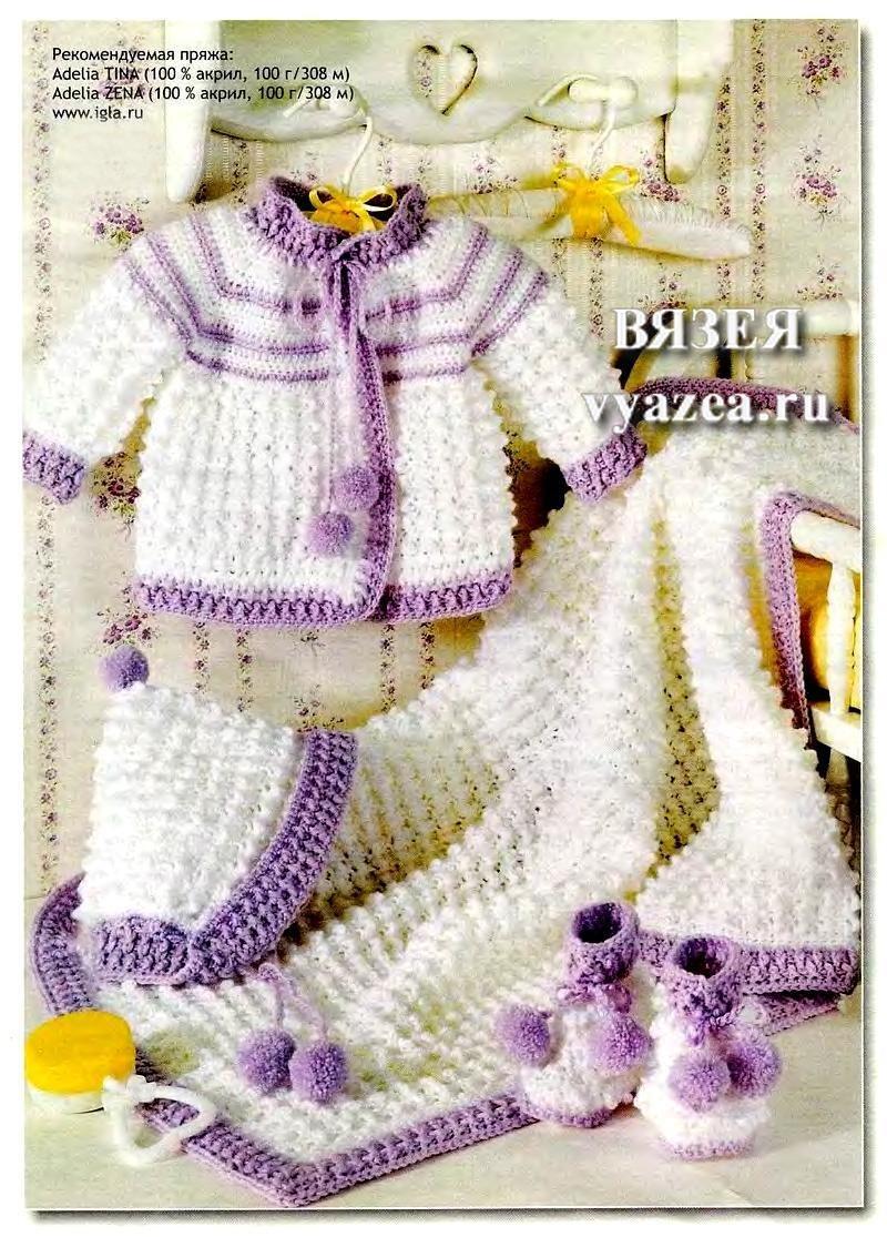Вязание спицами из акрила для новорожденных