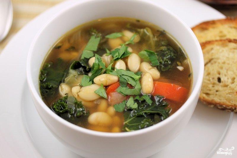 Суп из белой фасоли рецепт с пошагово