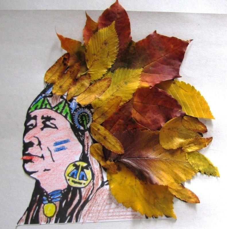 Поделка на тему осень в школу 1 класс из листьев 88