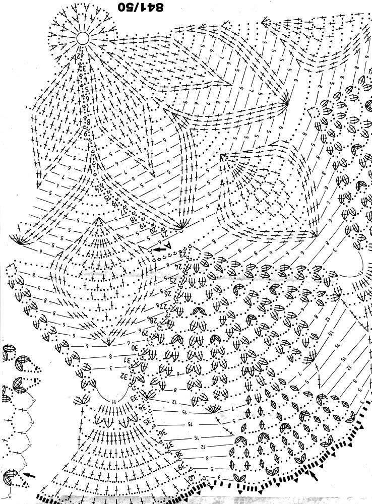 Салфетки крючком вязание схемой 6