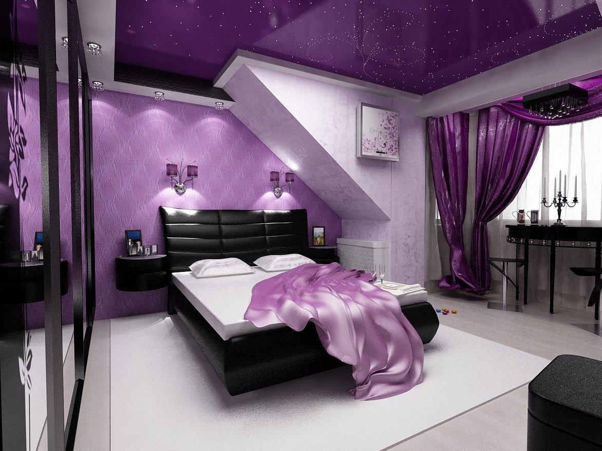Фиолетовый дизайн своими руками 169