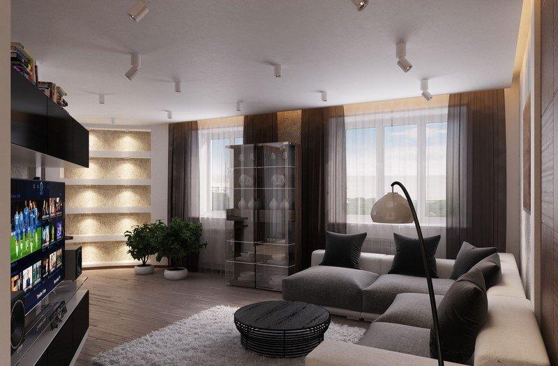 3 комнатные квартиры дизайн 2017-2018