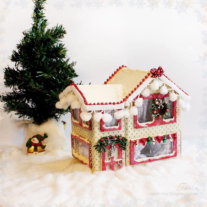 Поделка домика новогоднего своими руками