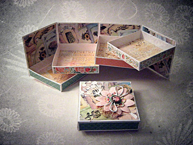 Шкатулка для мелочей из коробки