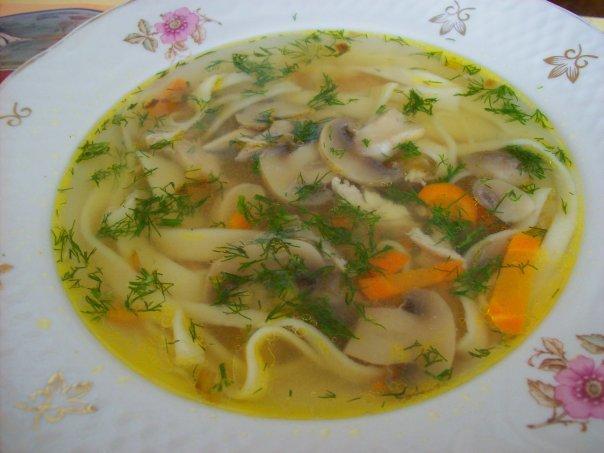 Вкусный грибной суп с курицей рецепт