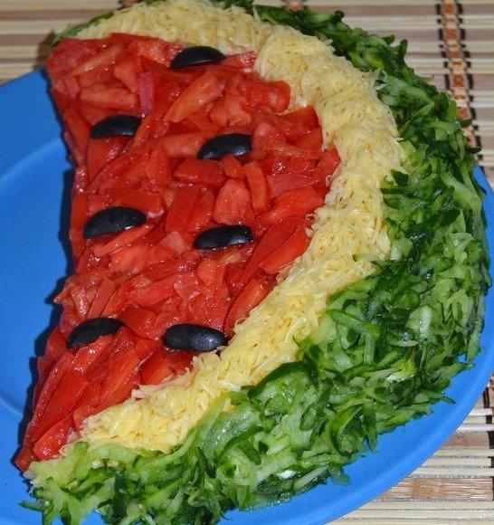 Салат арбузные дольки с