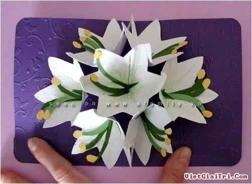 Открытка объёмная с цветами своими руками