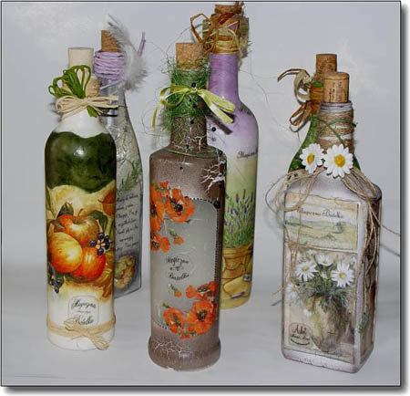 Бутылки красивые своими руками