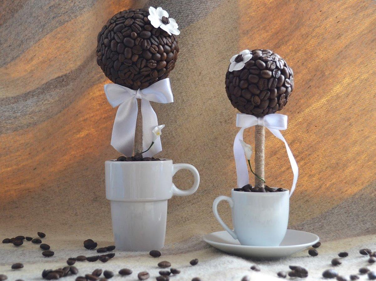 Топиарий из зёрен кофе 36