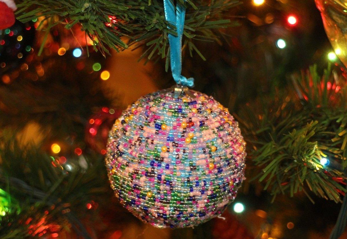 Новогодняя игрушка на елку своими рук