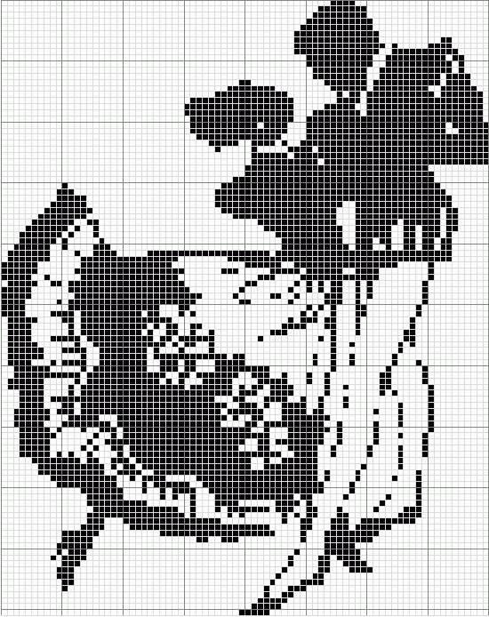 Вышивка схема картинка черно белые