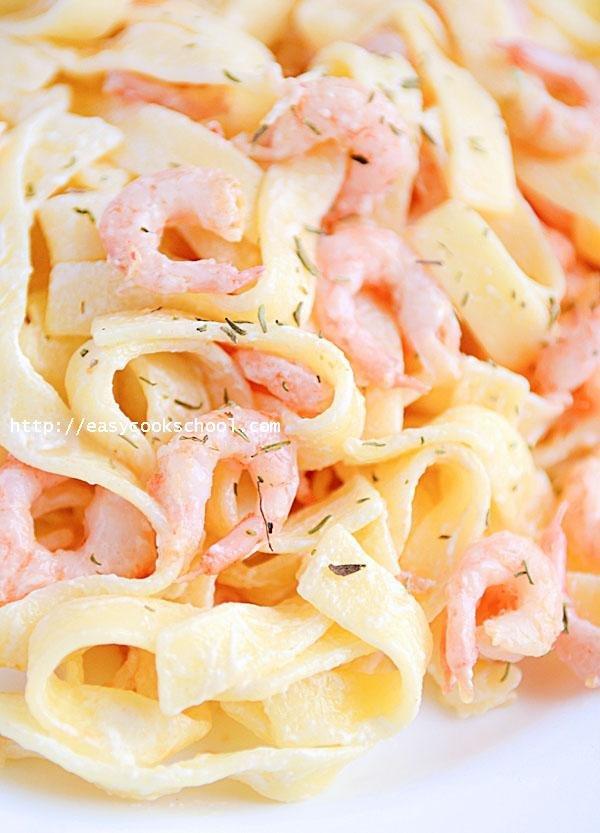 Паста с креветками в сливочном соусе рецепт с фото пошагово