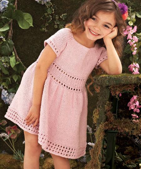 Вязание спицами для девочки платье платья 940