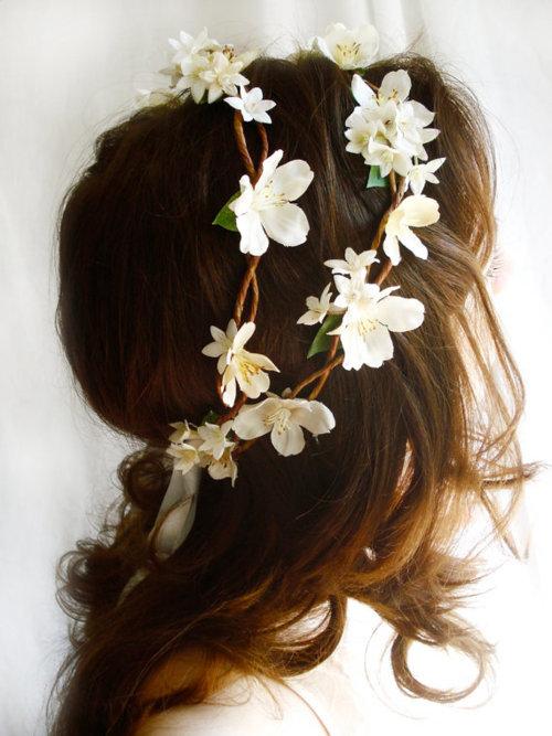 Венок с цветами своими руками на волосы 135