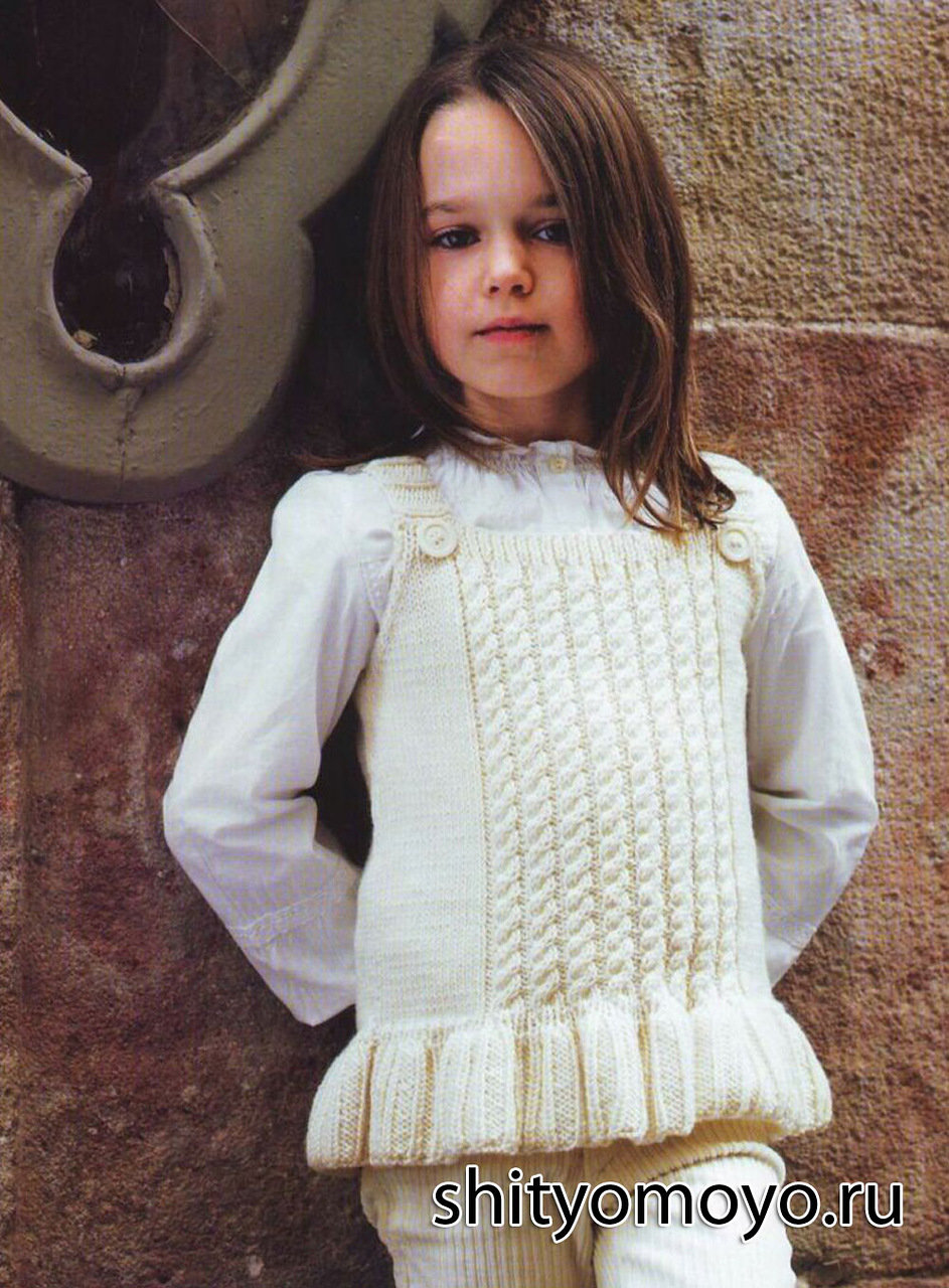 Вязание жилет для девочки 33