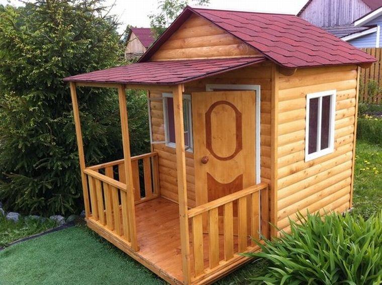 Как построить домик для девочки своими руками 79