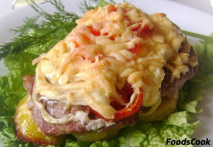 Как сделать мясо по-французски с помидорами